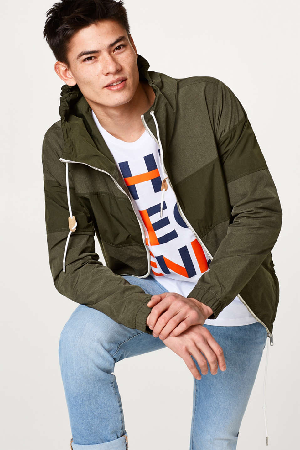 edc - Sporty hooded between-seasons jacket