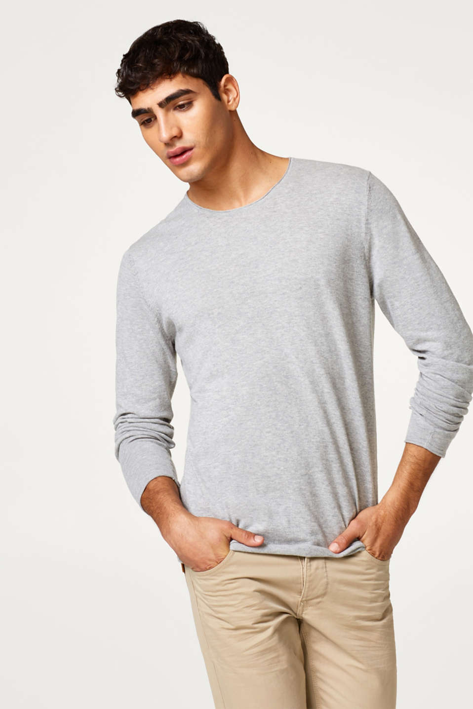 edc - light wight c-neck sweater