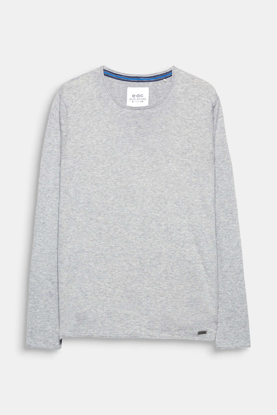 A sporty fashion essential to complete your look: fine knit jumper in 100% cotton.