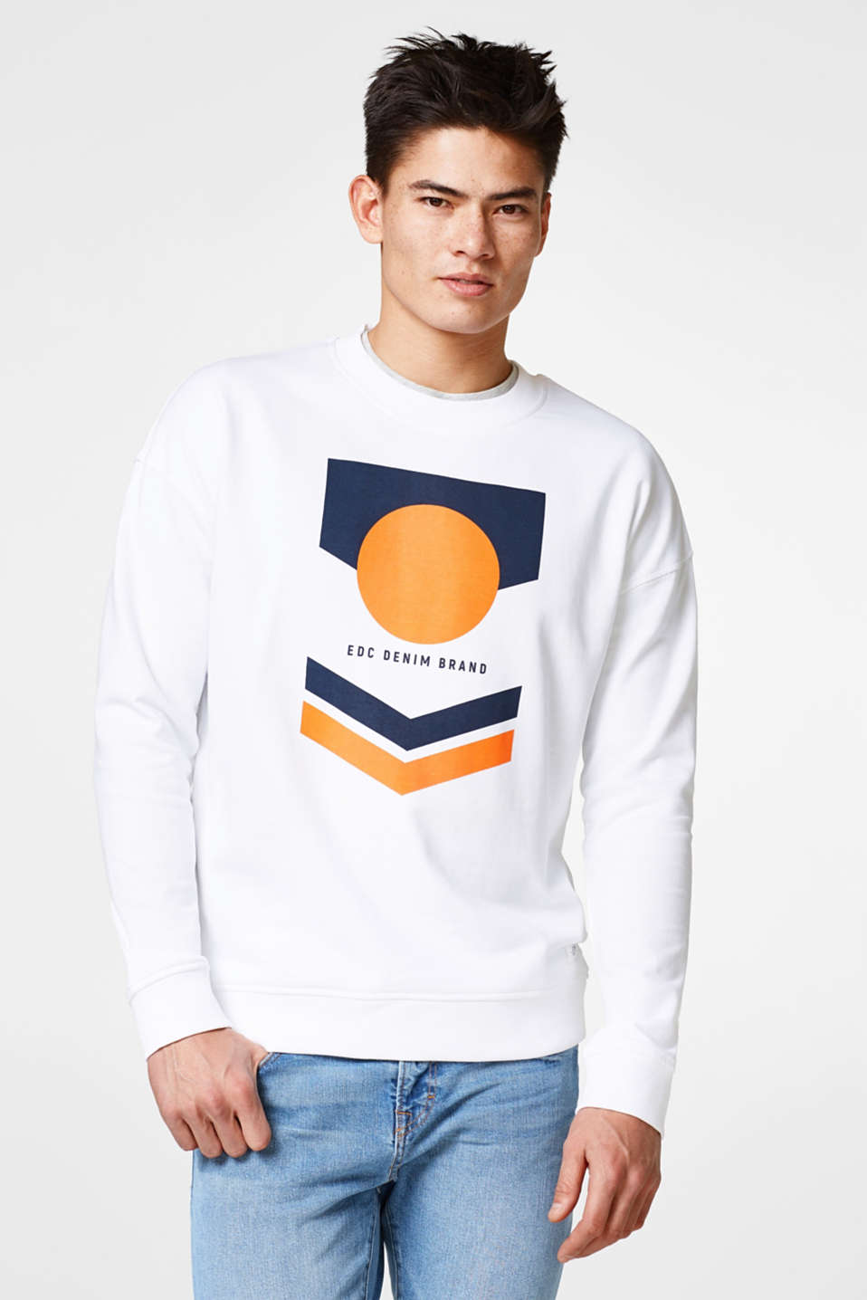 edc - Cotton sweatshirt with a retro print