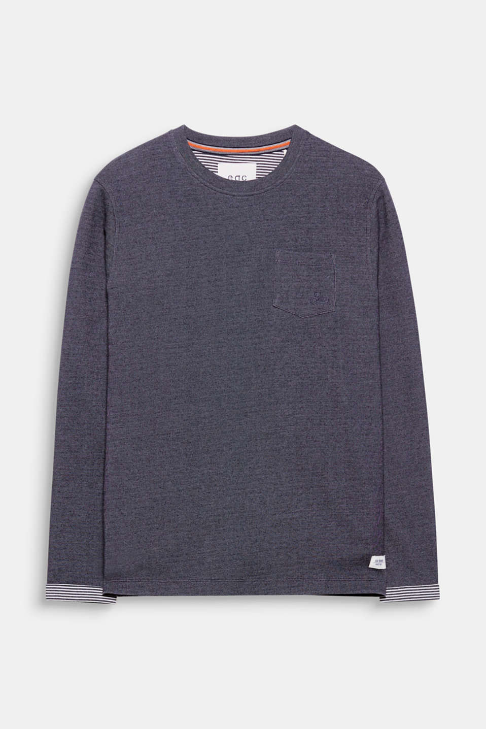 For your urban look! Sweatshirt fabric with a subtle melange finish gives this sweatshirt its unique look.