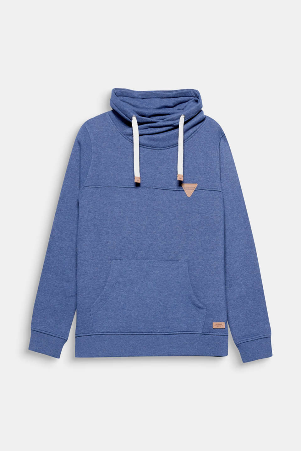 An EDC classic: jumper with a drawstring, in melange blended cotton