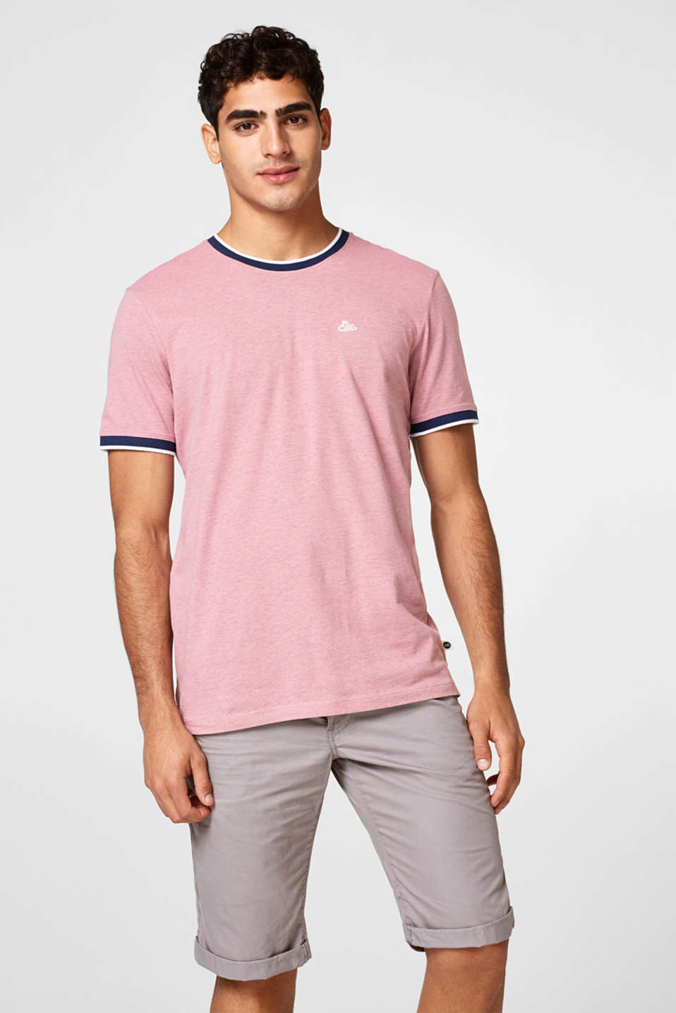 edc - Jersey tee with ribbed borders