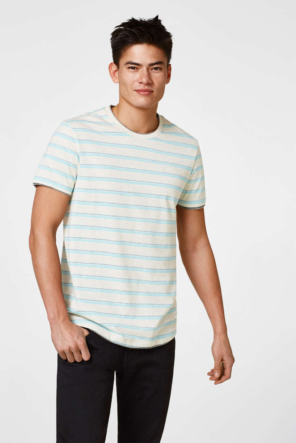 edc - Jersey top with jacquard stripes