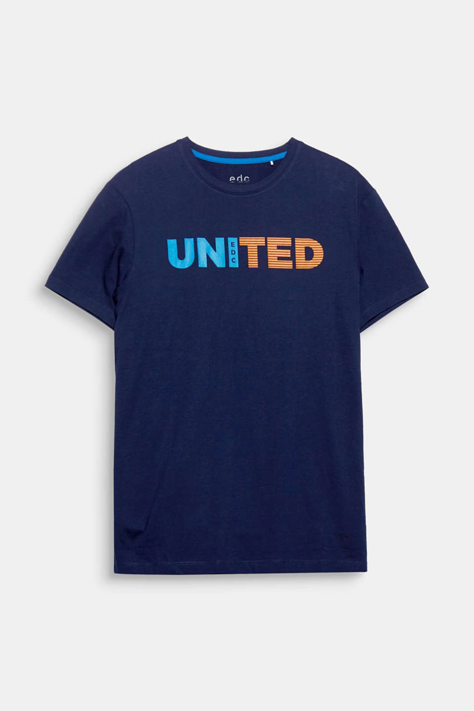 United! A print and bold statement in one: pure cotton T-shirt.