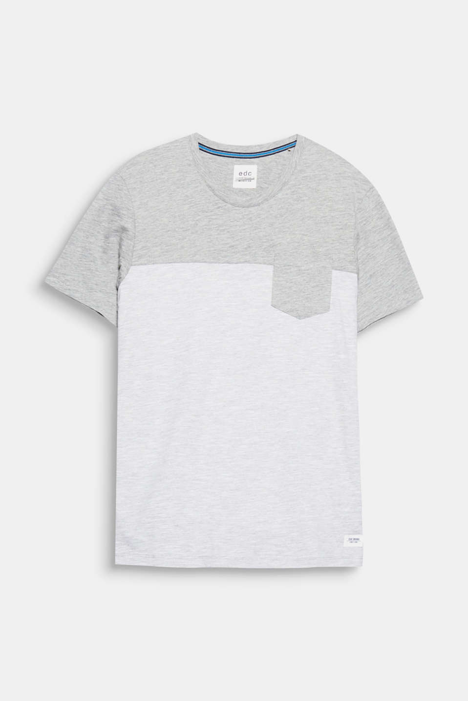 The textured slub jersey fabric and block stripes make this T-shirt a casual style for urban looks.