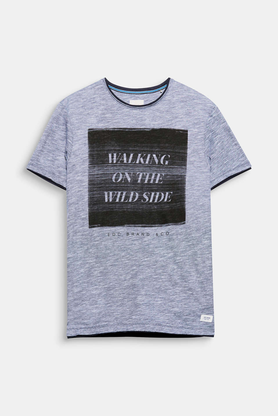 Walking on the wild side! Ein Statement, ein Print - auf diesem melierten T-Shirt aus Slub Jersey.