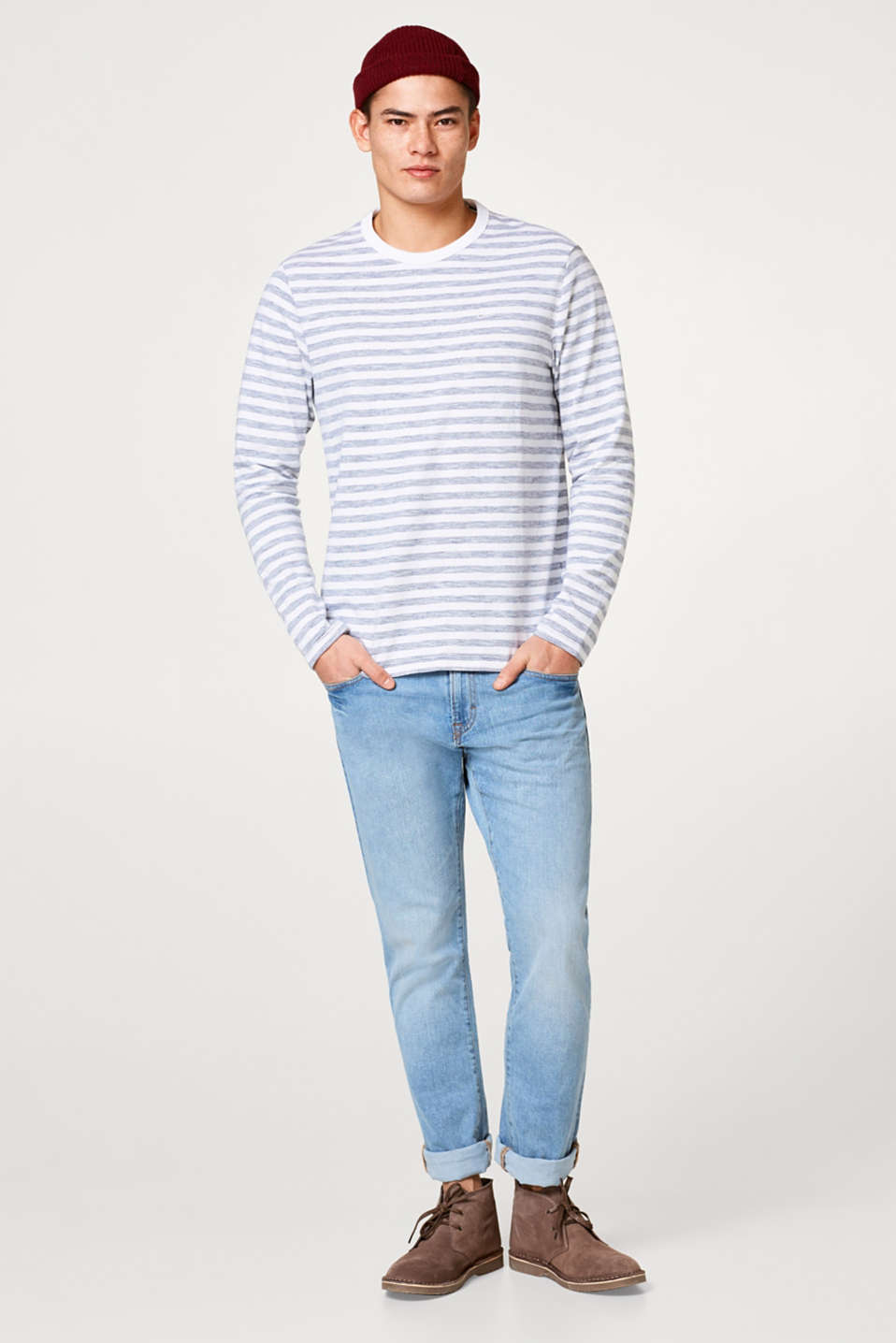 edc - Printed stripe jersey long sleeve