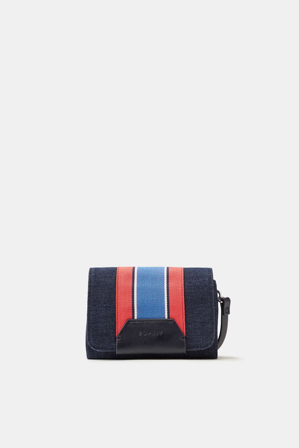 Esprit - Small shoulder bag in a denim look