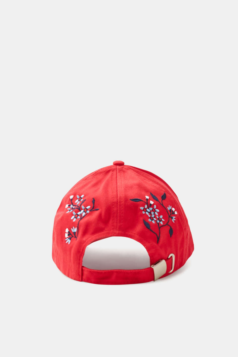 Baseball cap with floral embroidery