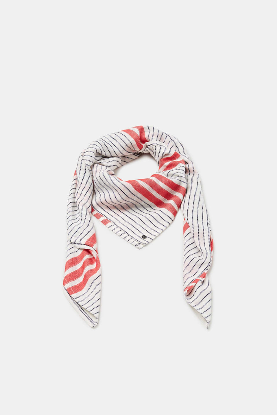 Esprit - Scarf with nautical textured stripes