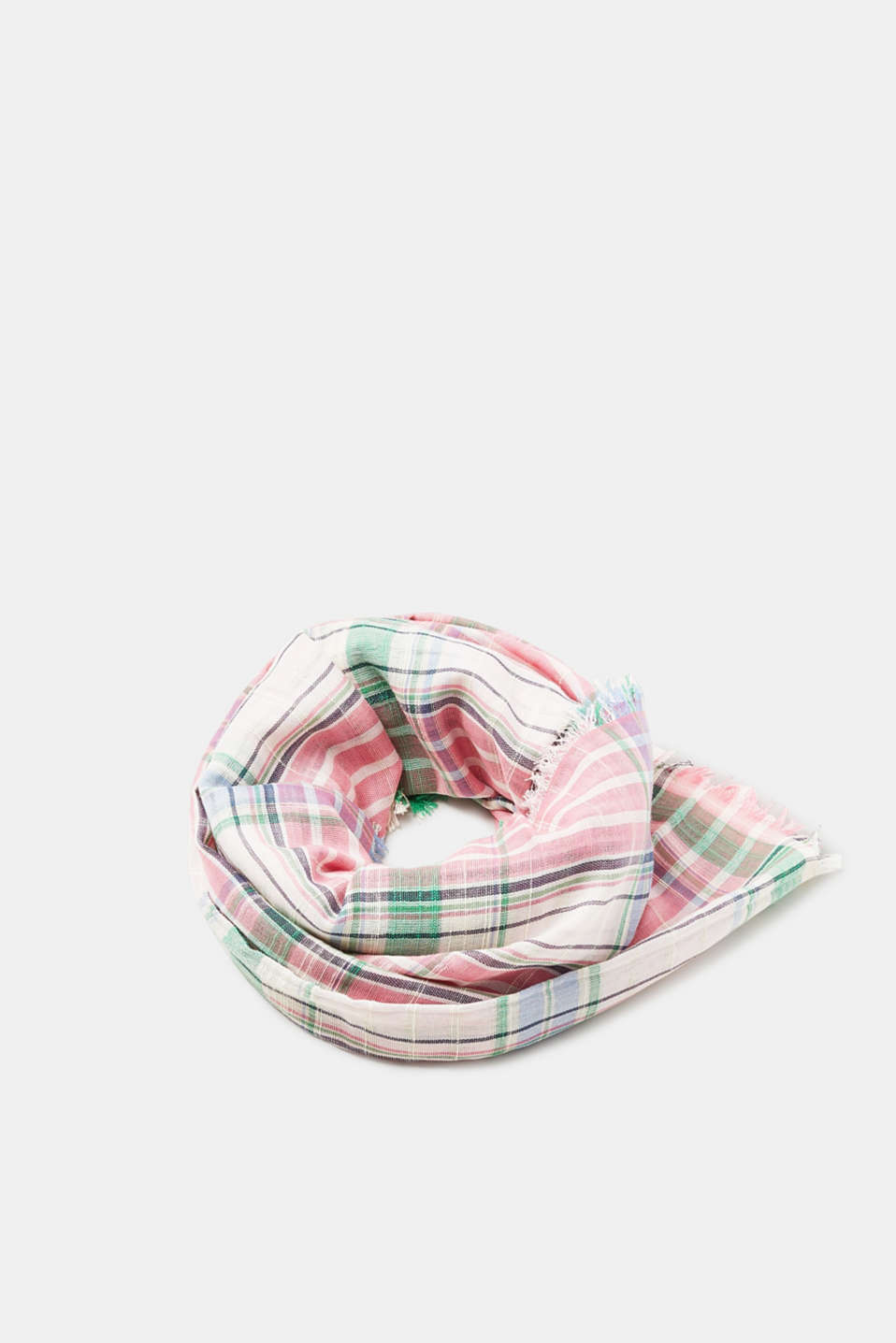 Esprit - Lightweight woven scarf with a feminine check pattern