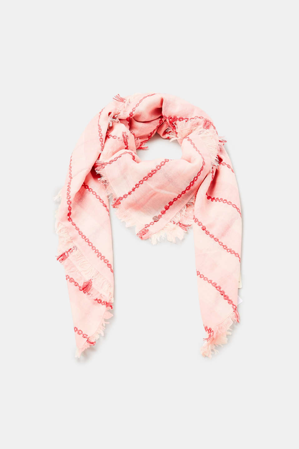 Esprit - Two-tone woven scarf with