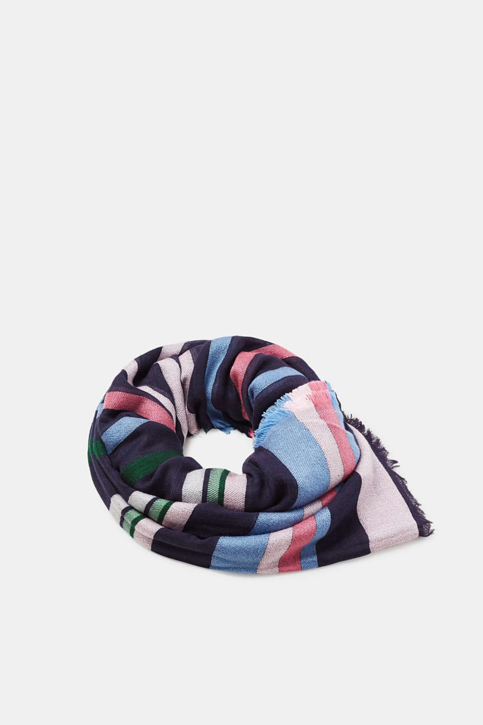 Esprit - Soft woven scarf with colourful stripes