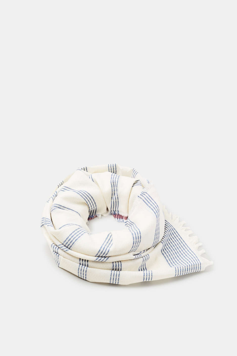 Esprit - Jacquard scarf with textured stripes