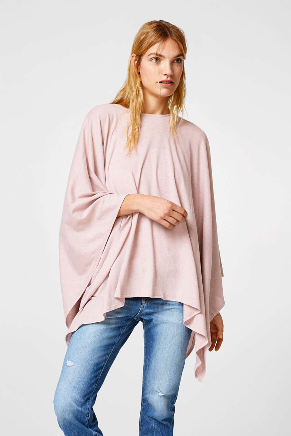 Esprit - Jersey poncho in a universal look