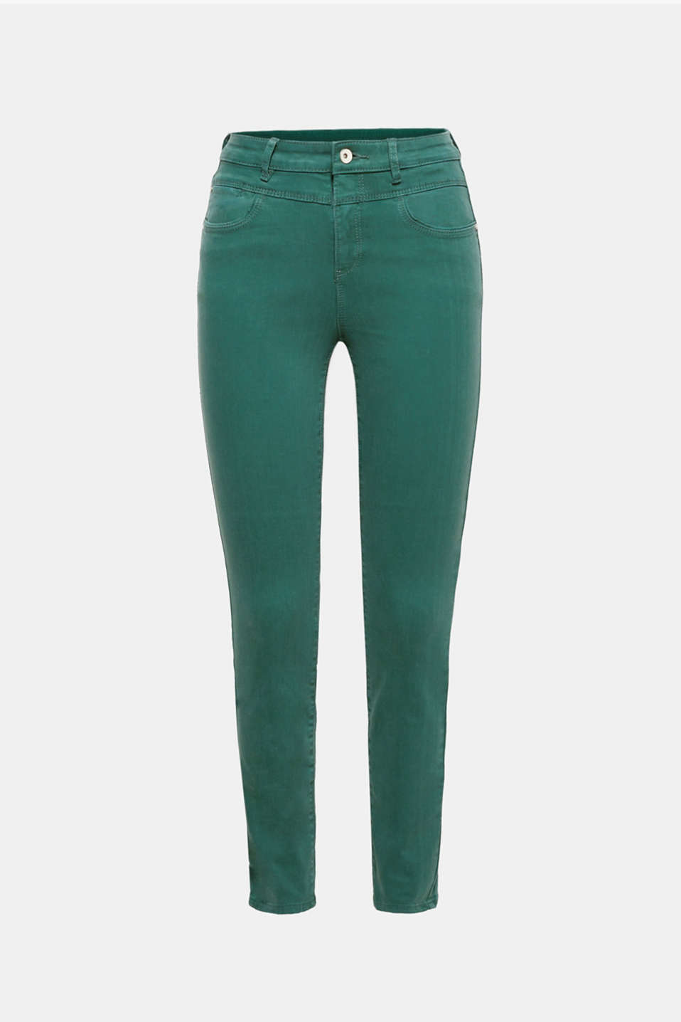 These lightweight, high-waisted stretch jeans with 5 pockets are perfect for spring and summer!