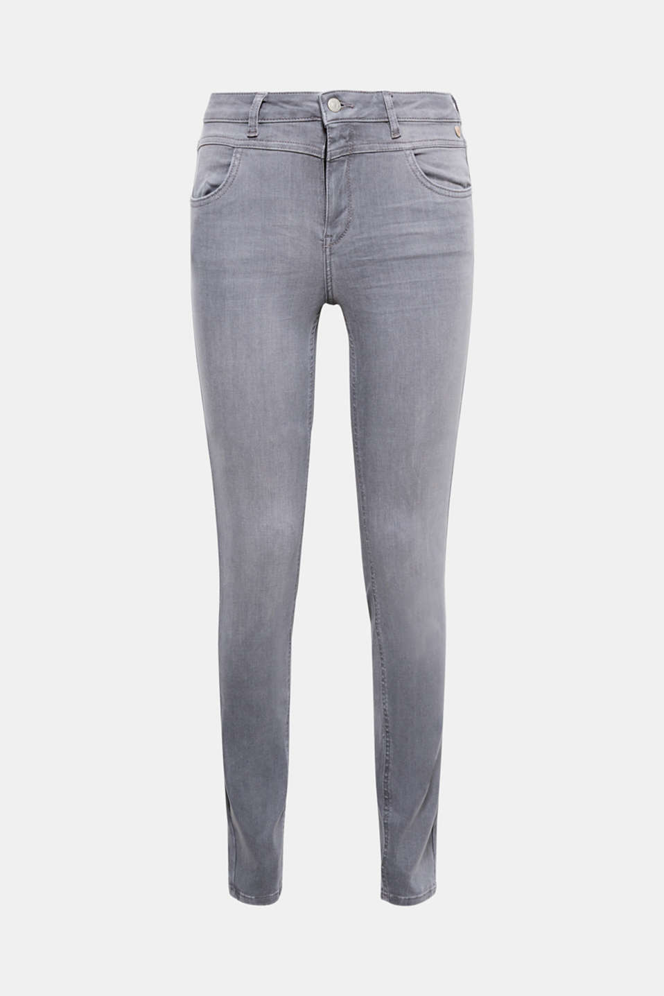 They create a sensational silhouette: High-waisted jeans made of lifting stretch denim with a clean garment wash.