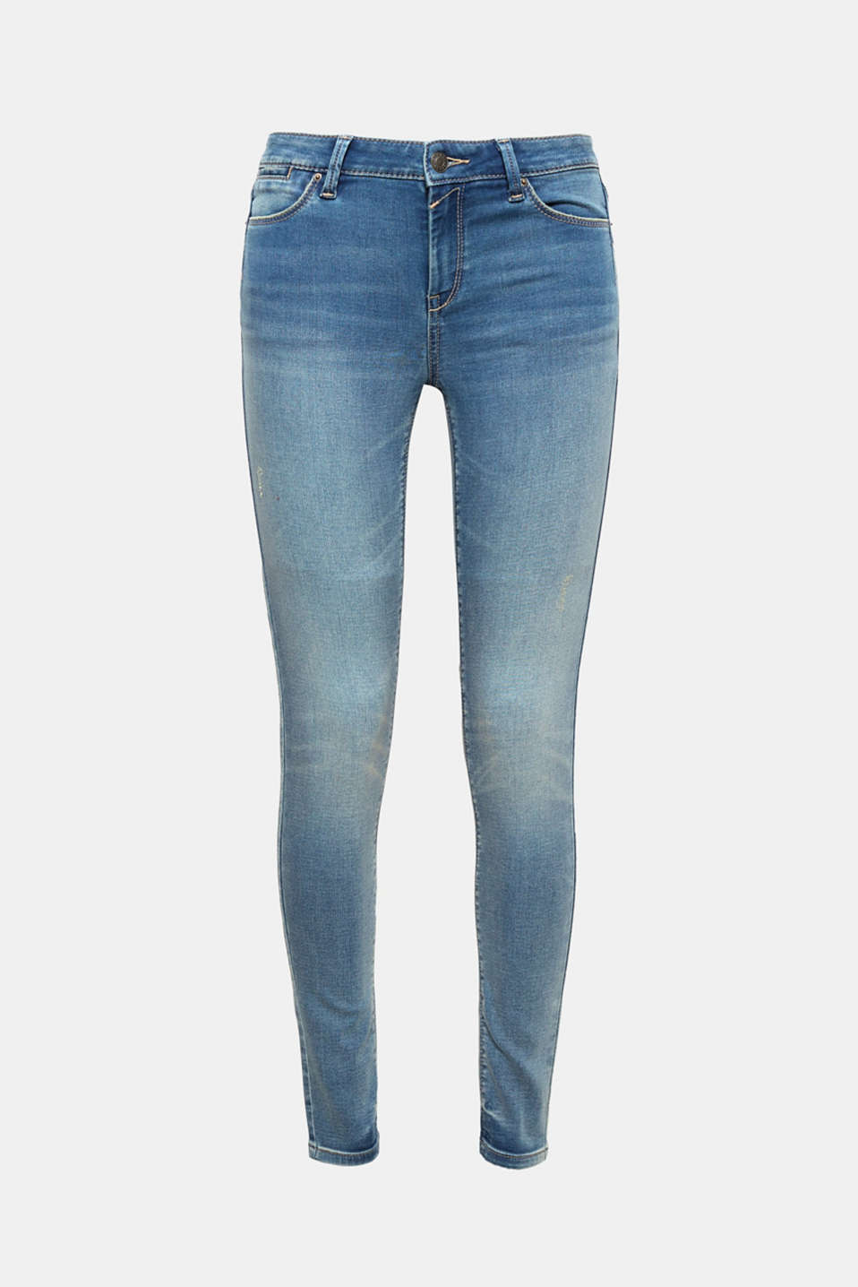 These skinny jeans with added stretch for comfort in a 5-pocket style are an indispensable essential!
