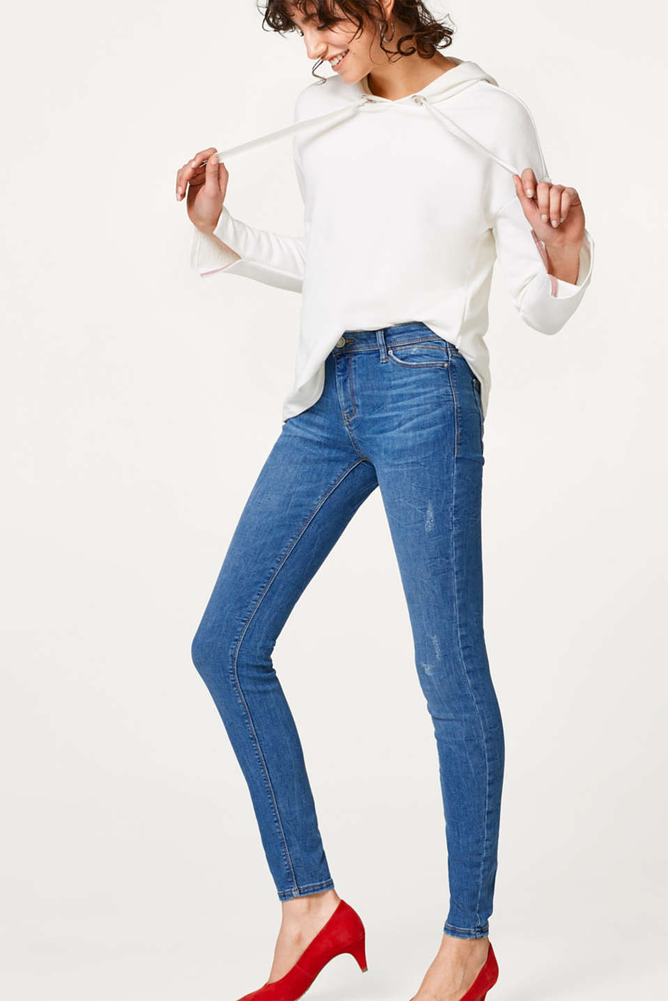 Esprit - Super stretch jeans with vintage effects