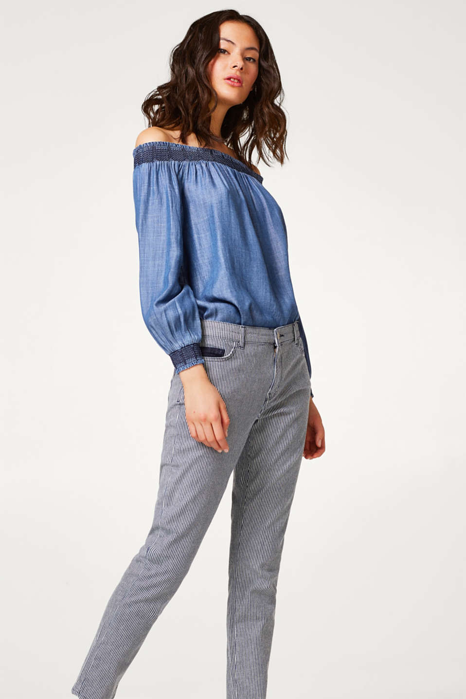 Esprit - Striped stretch jeans