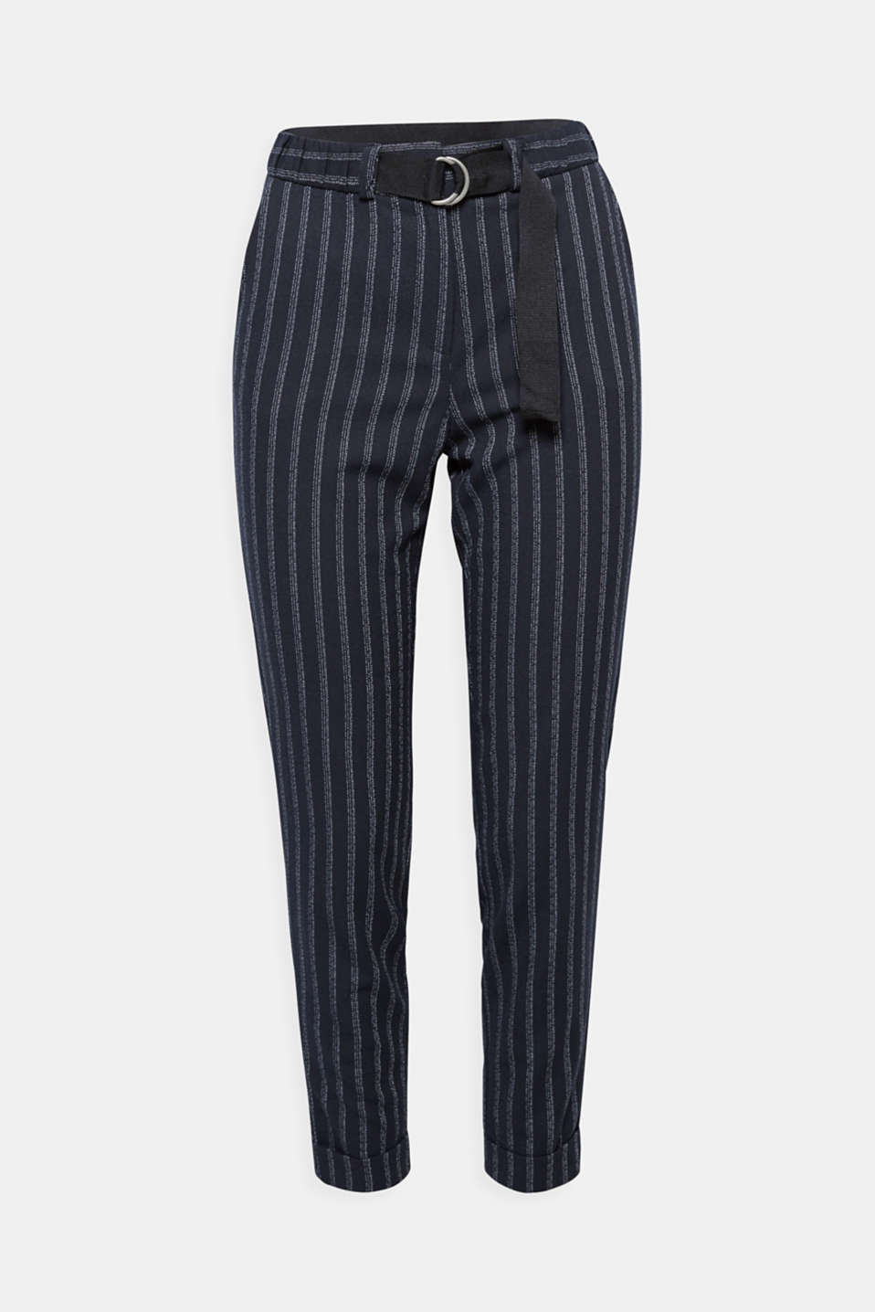 Comfortable and chic – these casual jogging bottoms with an elasticated waistband and a fine chalk stripe design are both!