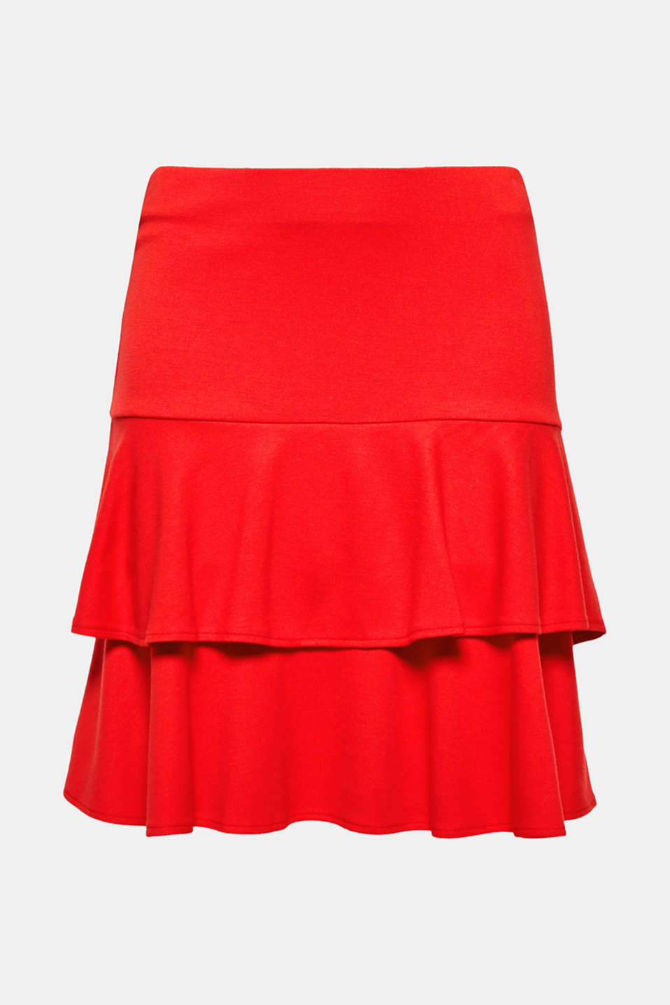 This lightweight, comfortable mini skirt with a beautifully shaped flounce will complete your perfect summer outfit!