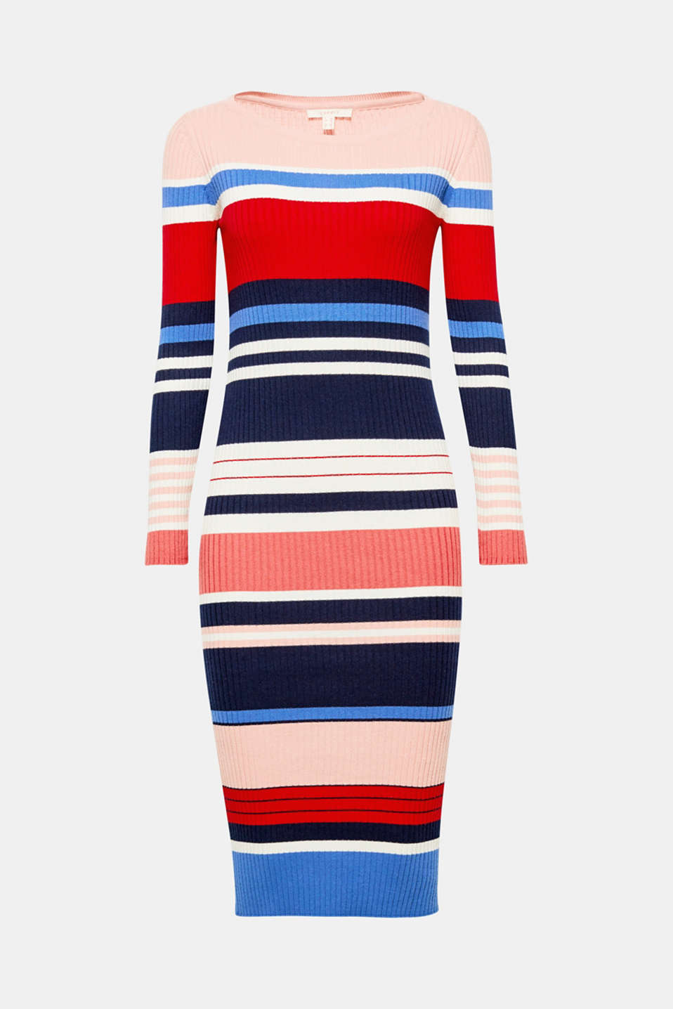 Everything is done to the max: length, lightness, colours, stripes! And this fine knit dress is comfortable to boot!