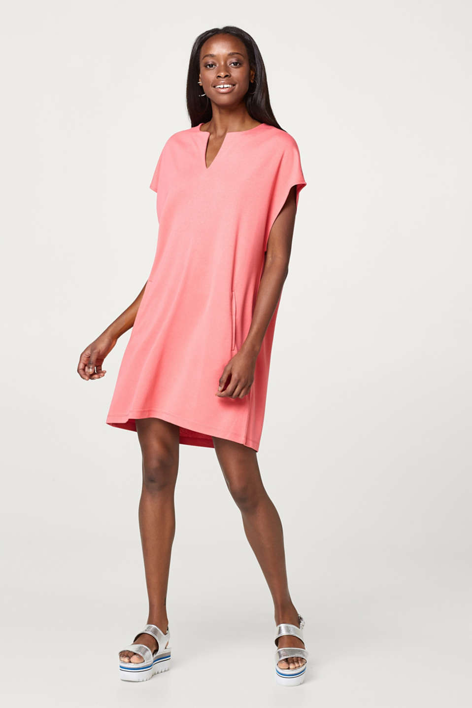 Softly draped jersey dress in an oversized style