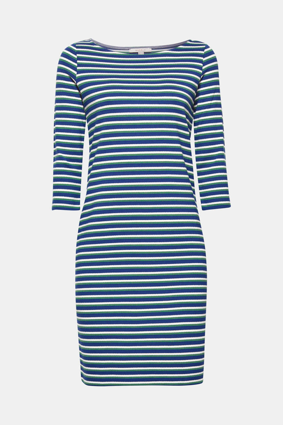 Stripes in a new colour mix and a casual fit give this dress in comfortable jersey a special twist!