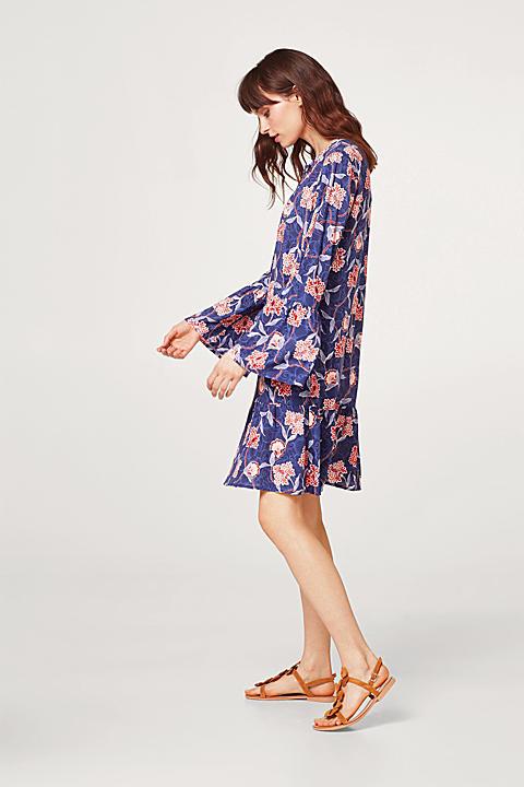 Leichtes Print-Kleid mit Volant-Details