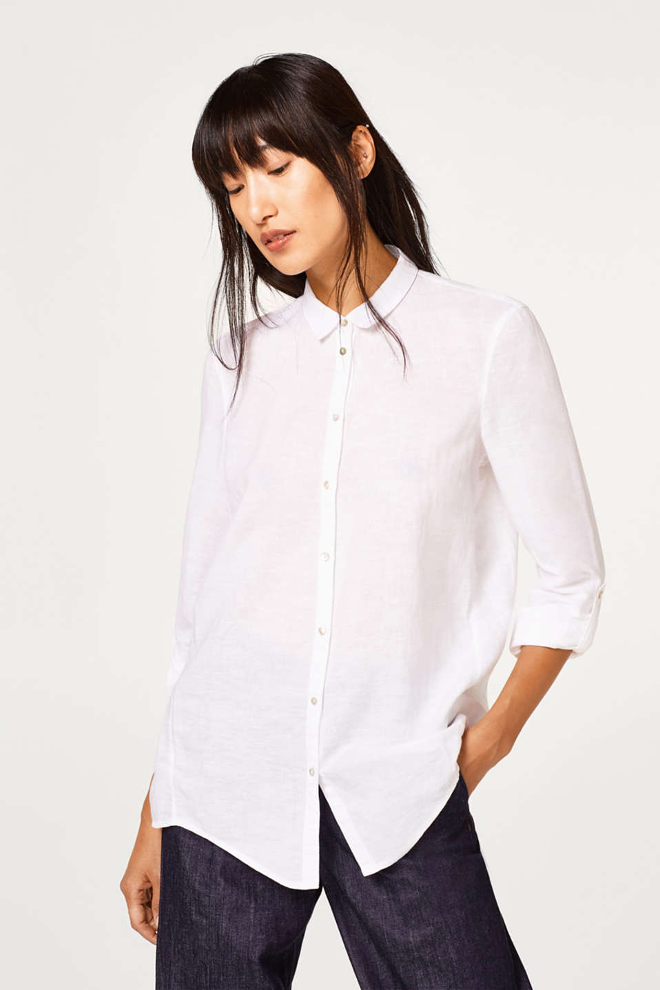 Esprit - Flowing cotton-linen blouse