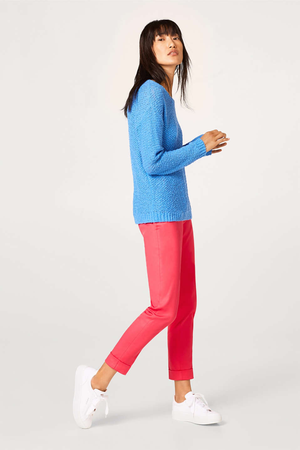 Bouclé jumper in great trend colours