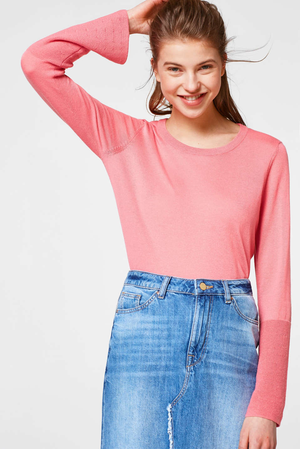 Esprit - Soft jumper with flared sleeves