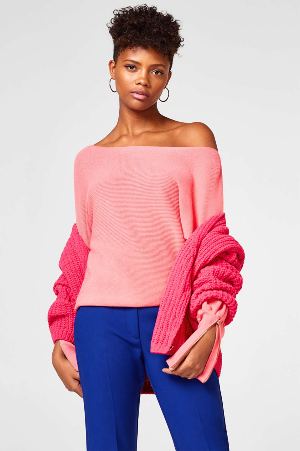 Off-Shoulder-Sweater aus Rippenstrick