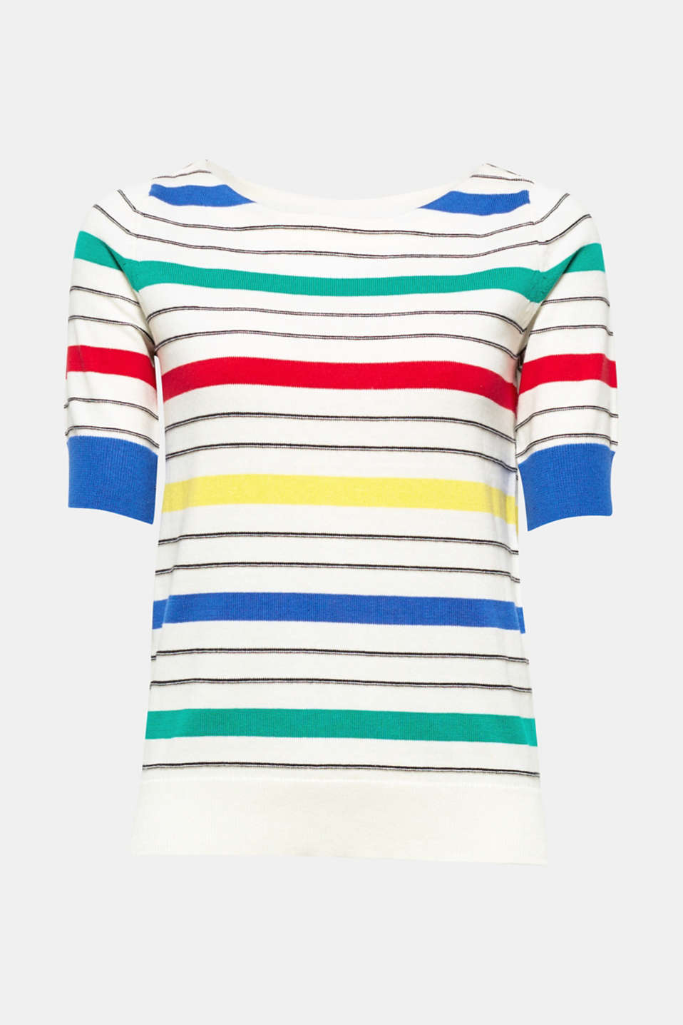 We love colour! The vibrant stripes make this fine-knit cotton jumper a light and airy fave.