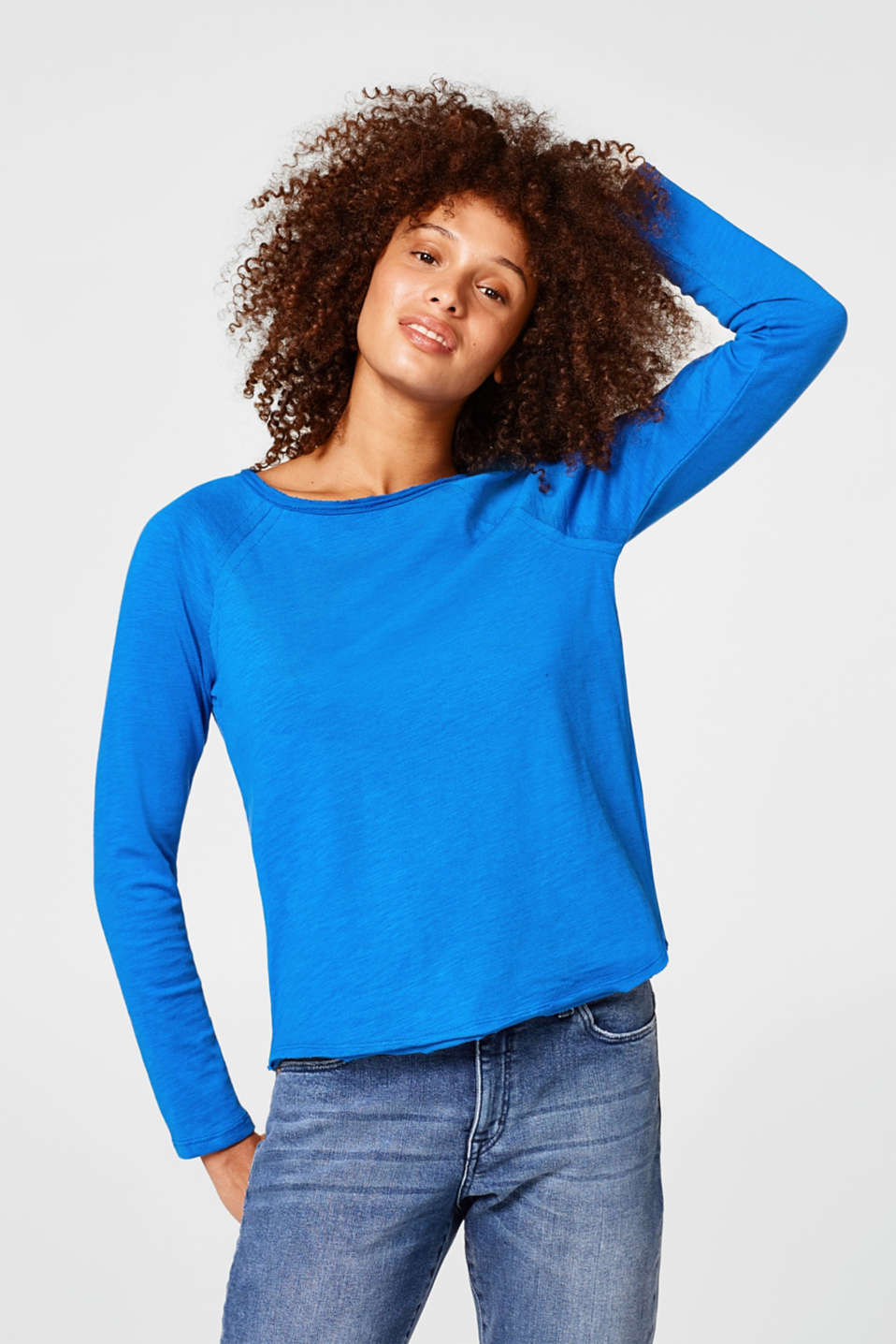 Esprit - Super light sweatshirt with unfinished edges