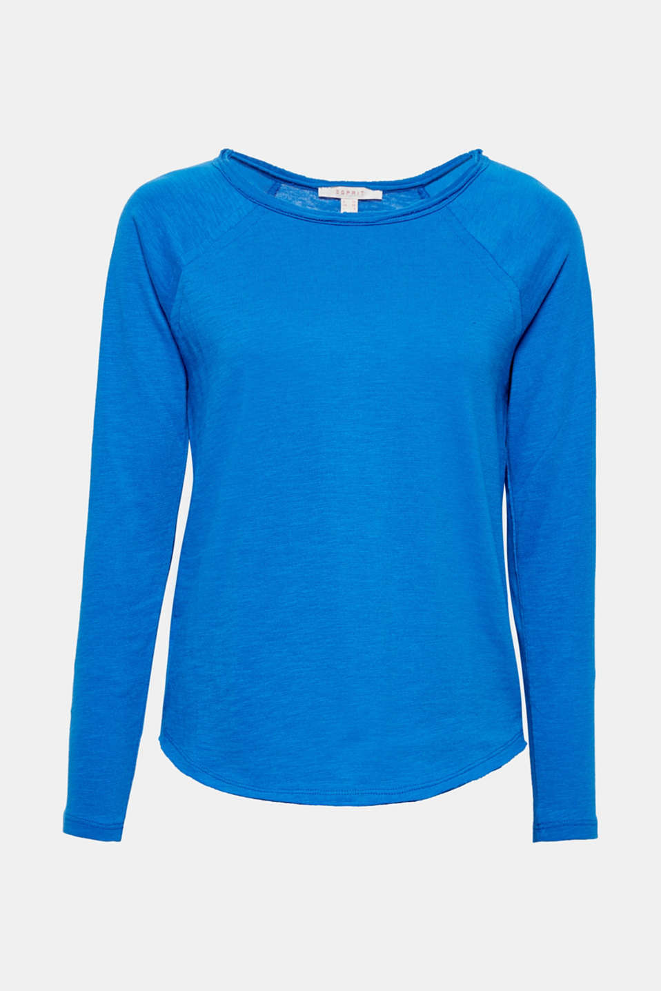 Lightweight and soft on the skin in a super casual design: unfinished edges give this cotton sweatshirt its stylish kick!