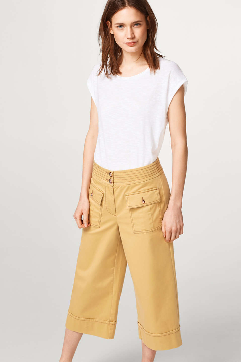 Esprit - Luftiges Slub-Shirt mit Organic Cotton