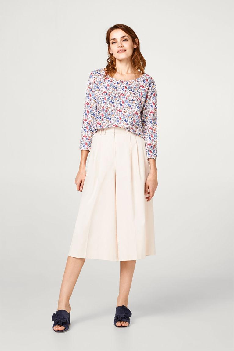 Shirt mit Blümchen-Print, 100% Baumwolle