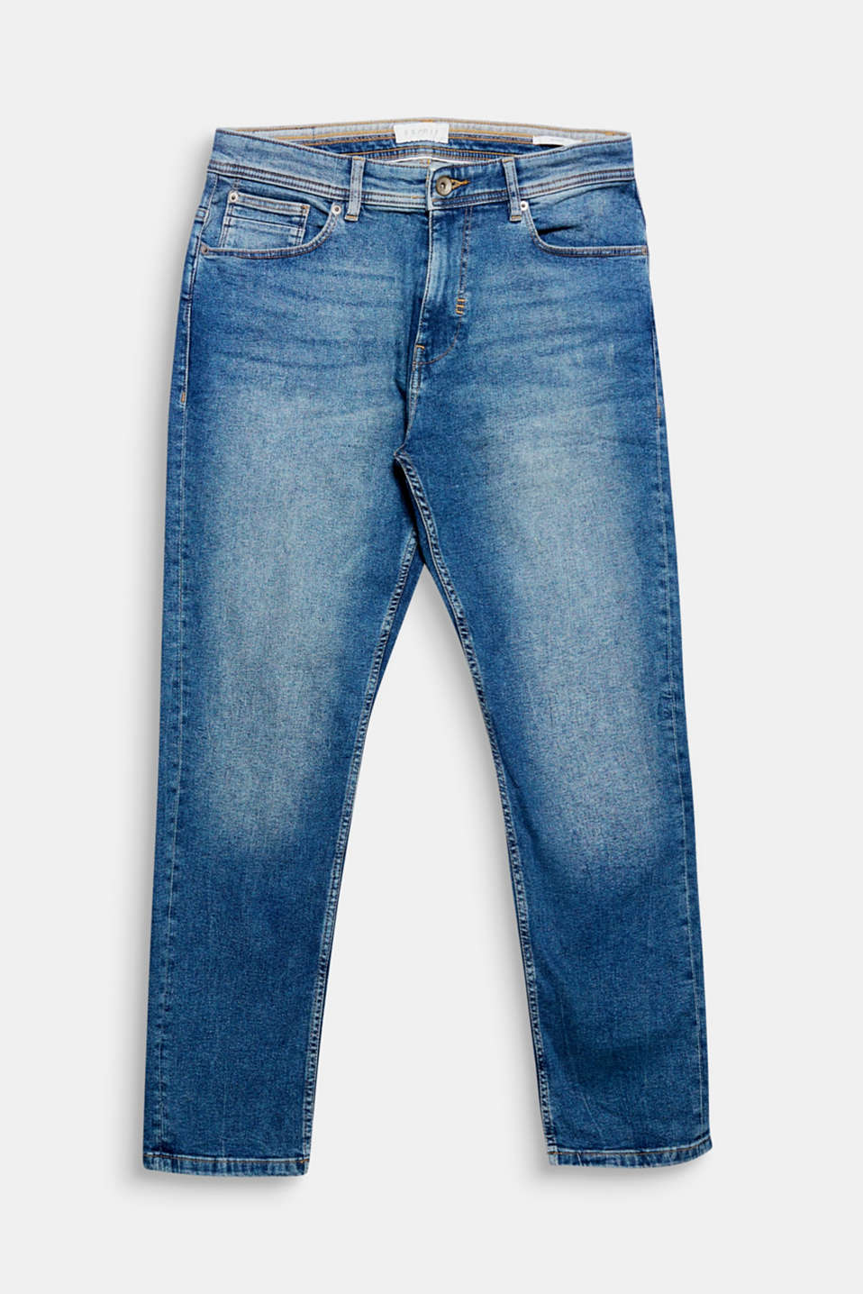 We love Denim! Bleached and Used - stylische Effekte, die diese 5-Pocket-Jeans zum urbanen Hingucker machen.