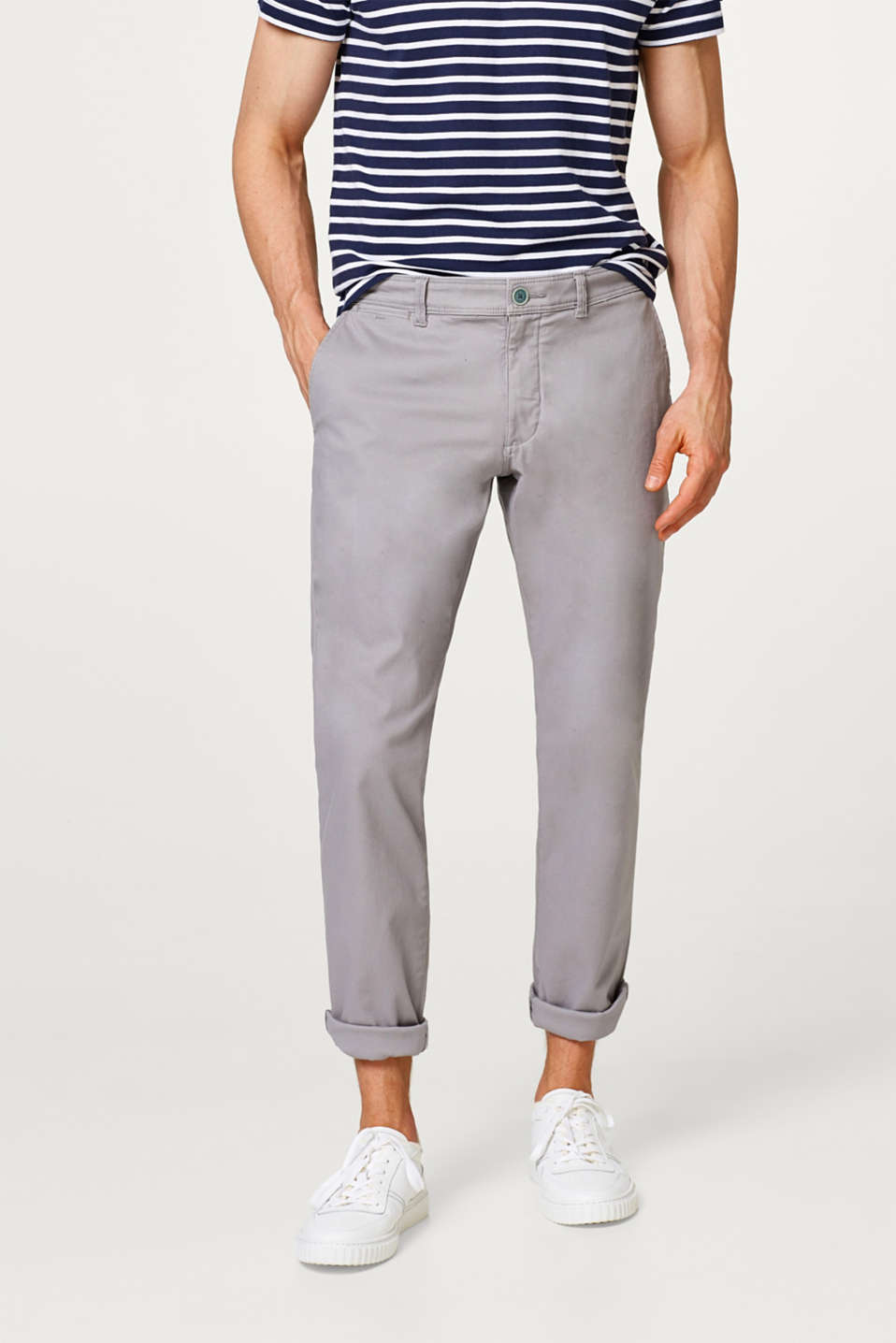 Esprit - Cotton twill fabric with added stretch for comfort