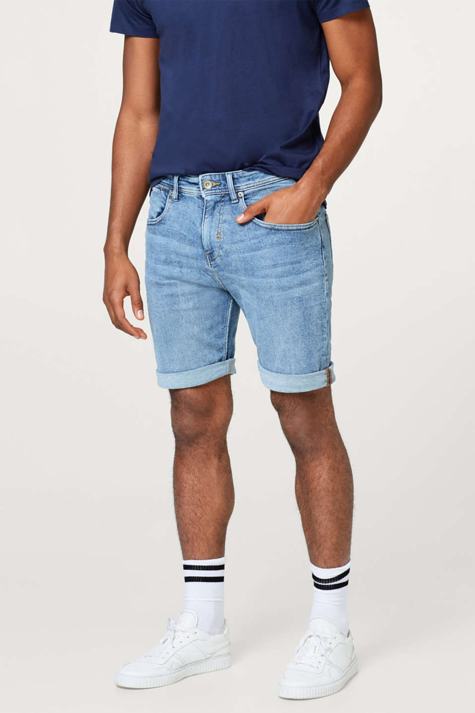 Esprit - Superstretch-Jeansshort mit Organic Cotton