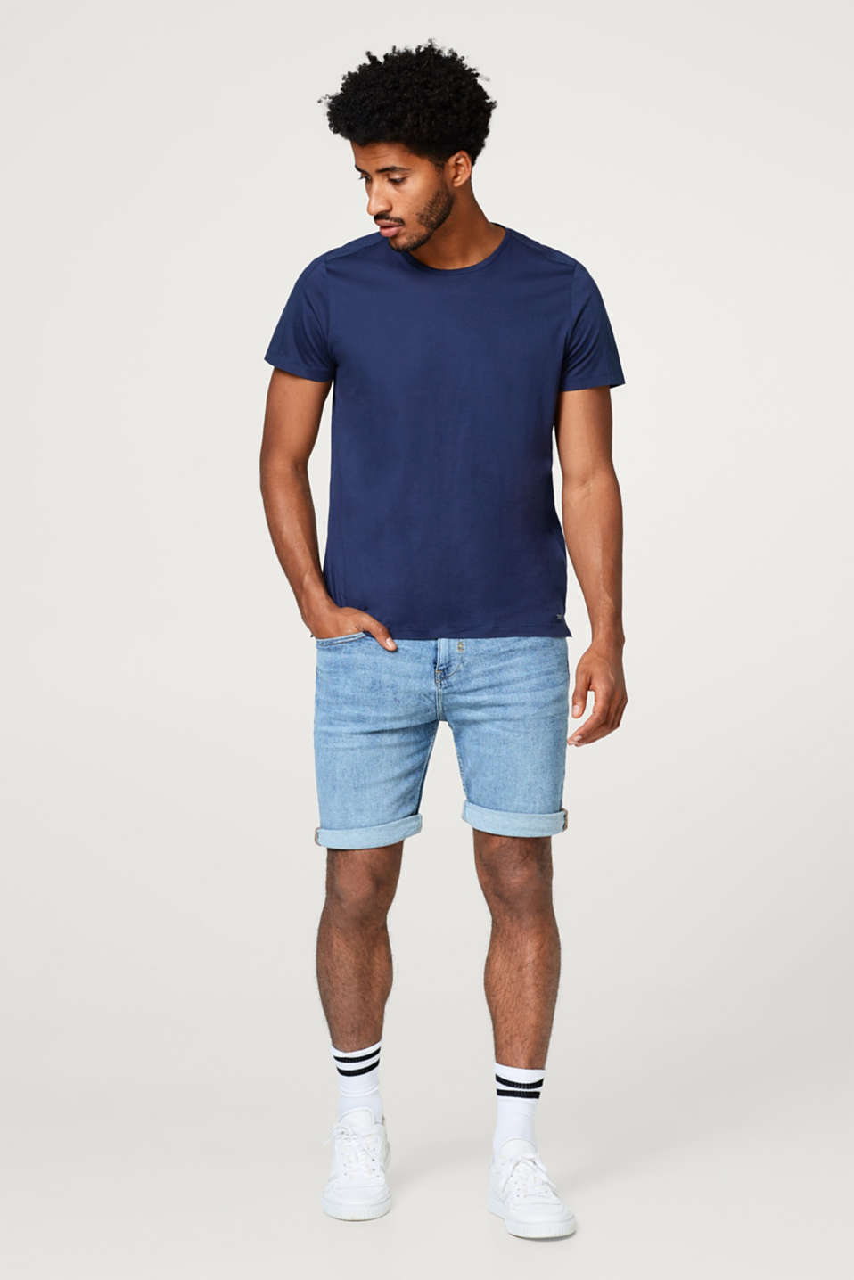 Superstretch-Jeansshort mit Organic Cotton