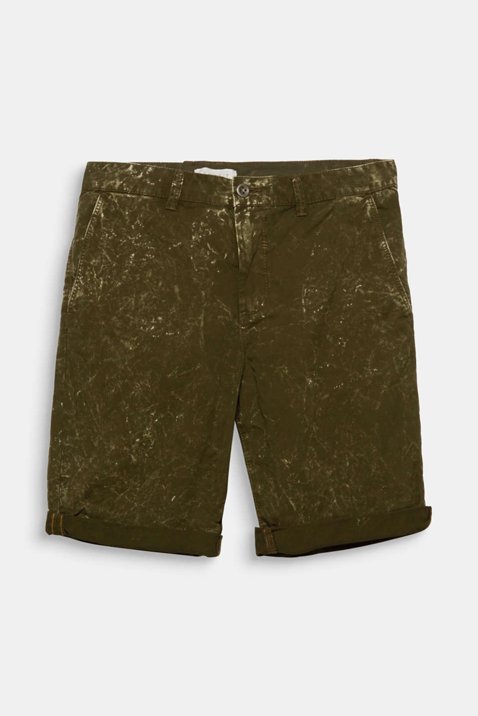 Acid washed – an eye-catcher! Go through the summer with these chino shorts with an exciting texture.