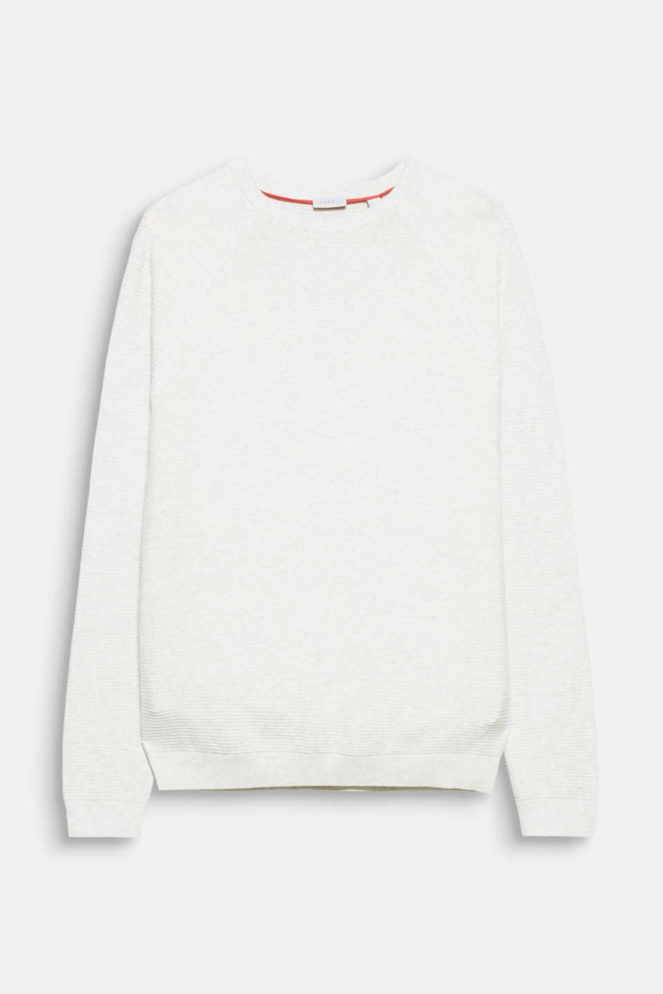 Esprit - Soft textured jumper, 100% cotton at our Online Shop for Soft White Cotton Texture  197uhy