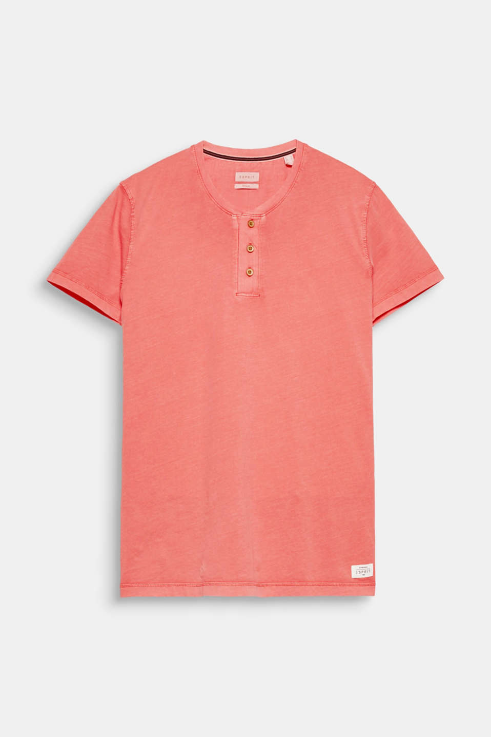 The slightly faded finish and Henley neckline give this T-shirt a seriously laid-back look.
