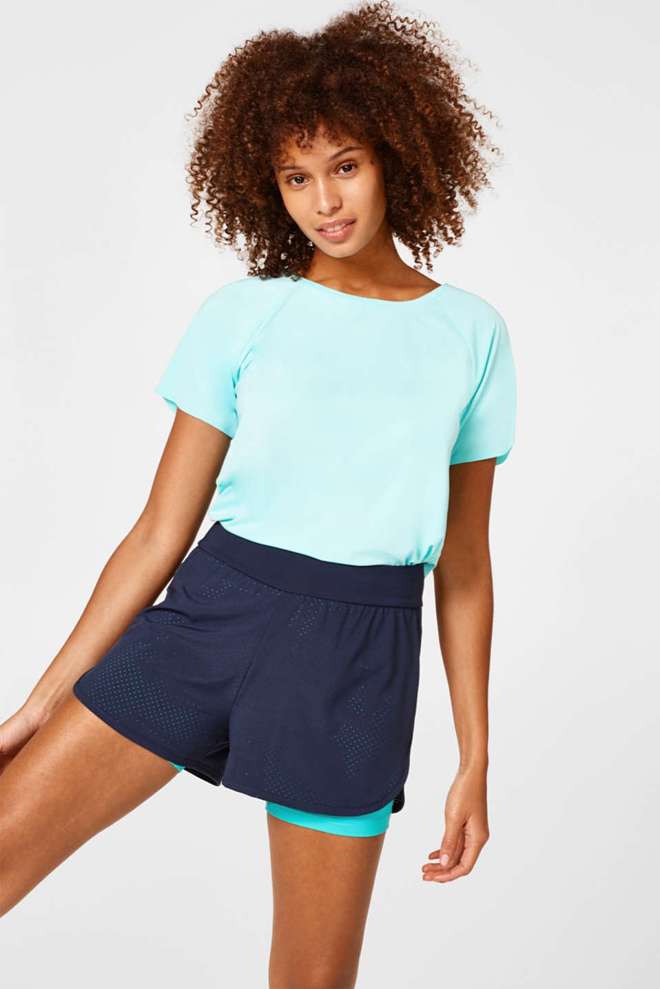 Esprit - Active-Shorts im Layer-Look, EDRY
