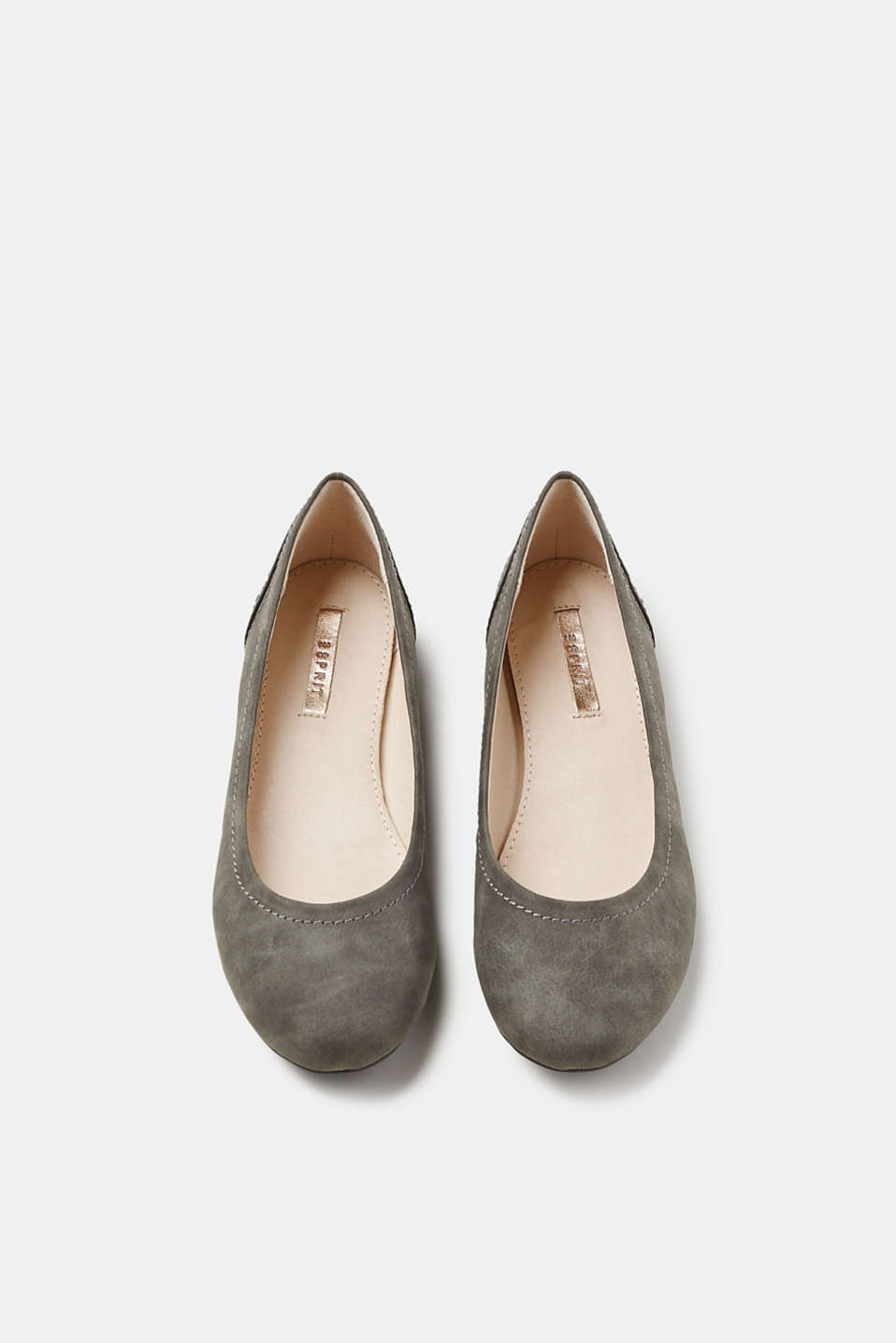 Rustic faux leather ballerinas