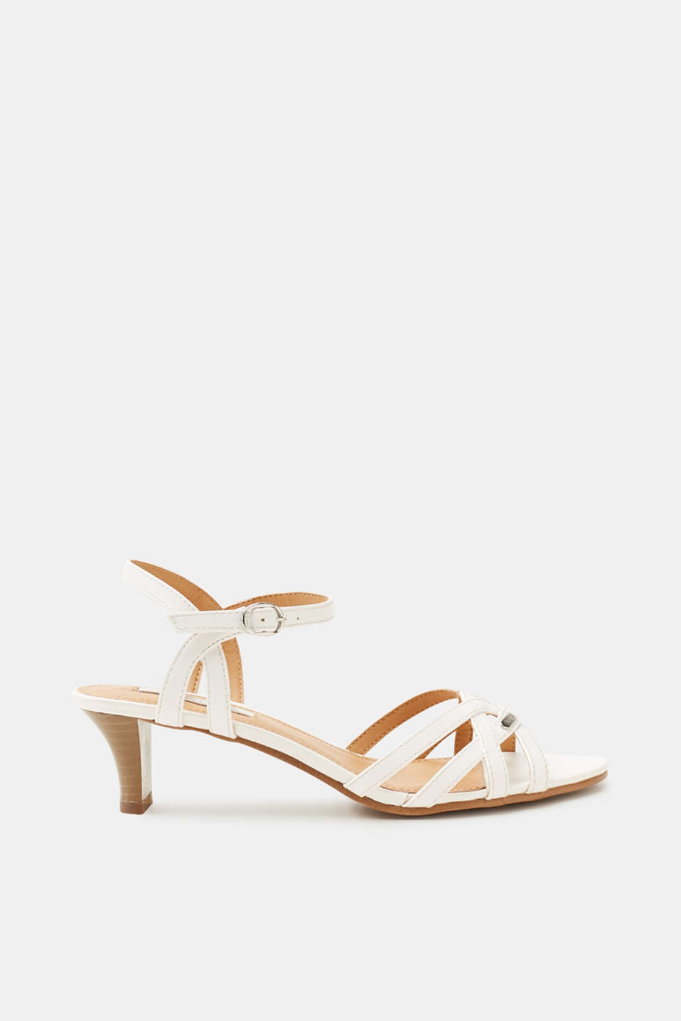Esprit - Sandals with a funnel heel, in faux leather